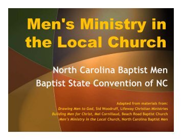Men's Ministry in the Local Church - Baptist Men and Women on ...