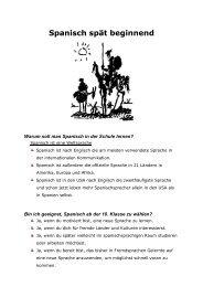 Spanisch spät beginnend - Für Schüler