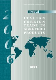 italian foreign trade in agri-food products 2006 - Inea