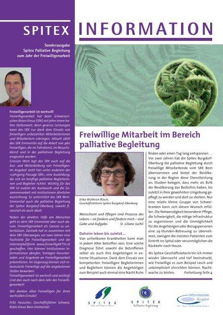 Was ist palliative Begleitung? - freiwilligAKTIV.ch