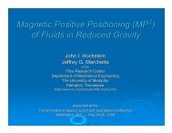 Magnetic Positive Positioning (MP ) of Fluids in Reduced Gravity