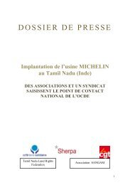 DOSSIER DE PRESSE - CCFD-Terre Solidaire