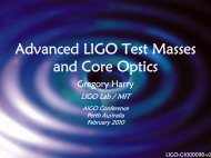 Advanced LIGO Test Masses and Core Optics - DCC