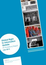 Global Right to Information Update - Access Info Europe