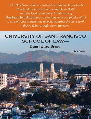 Dean Jeffrey Brand - The Bar Association of San Francisco