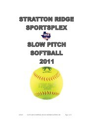 2/8/2011 CLUTE ADULT SOFTBALL RULES AND REGULATIONS ...