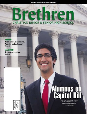 Alumnus on Capitol Hill - Brethren Christian Junior & Senior High ...