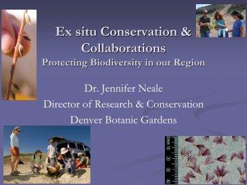 PRESENTATION_Ex situ Conservation and ...