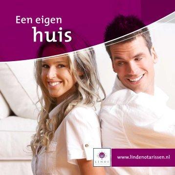 Lees de brochure: 'Een eigen huis' - Linde Notarissen