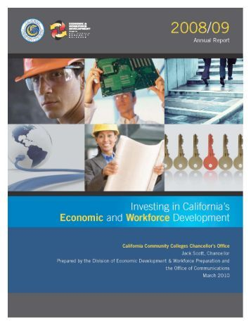 Investing in California's Economic and Workforce Development