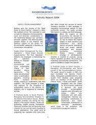 Activity Report 2004 - Tour Operators Initiative