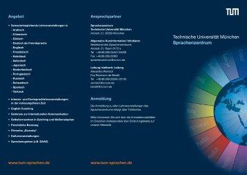 können Sie den Flyer des Sprachenzentrums herunterladen