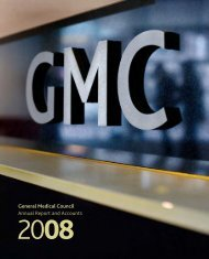 Annual Reports and Accounts 2008 - General Medical Council