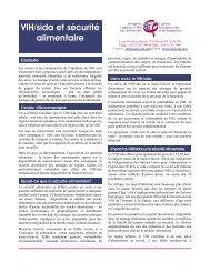 VIH/sida et sécurité alimentaire - Interagency Coalition on AIDS and ...