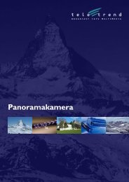 Broschüre Panoramakameras deutch V600 A4.indd - Teletrend AG
