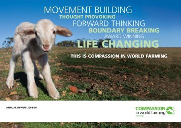 Annual review 2008-2009 - Compassion in World Farming