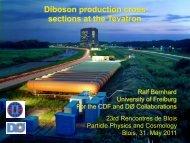 Diboson production cross sections at the Tevatron - rencontres de ...