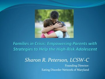 Empowering Parents with Strategies To Help the High Risk Adolescent