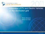 Integration of PV and Electric Vehicles on the ... - Solar Decathlon