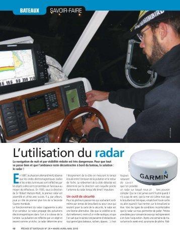 L'utilisation du radar - Le Pêcheur de France