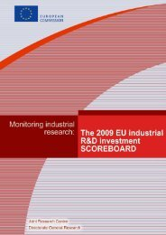 The 2009 EU Industrial R&D Investment Scoreboard - IRI - Europa
