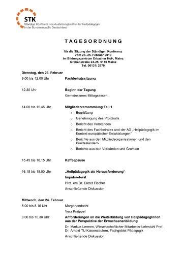 Tagesordnung der Jahrestagung als PDF-Datei - STK Heilpädagogik