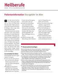 Patienteninformation Sturzgefahr im Alter - Heilberufe