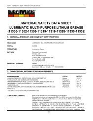 material safety data sheet lubrimatic multi-purpose lithium grease