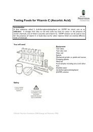 Testing Foods for Vitamin C (Ascorbic Acid) - Food a fact of life