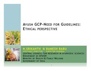 AYUSH GCP-NEED FOR GUIDELINES: ETHICAL PERSPECTIVE
