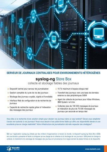 syslog-ng Store Box - BalaBit