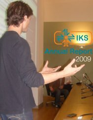 IKS Annual Report 2009 PDF (HiRes 10 MB)