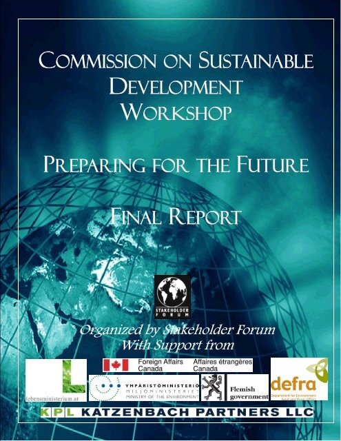 Final Report - Stakeholder Forum