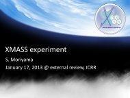 XMASS experiment