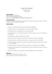 Curriculum Vitae - Georgetown University