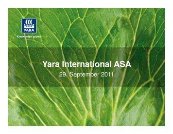 Yara International ASA - Marja- ja Hedelmätuotannon Osaajat