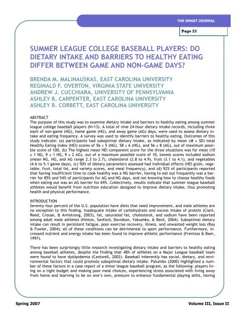 summer league college baseball players - The SMART Journal