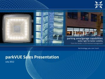 parkVUE Sales Presentation - Relume Technologies
