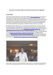 VP North America Activity Report 2009 (pdf file) - ISRM
