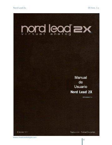 nord lead 2X ver1.0 (esp) - Musicas a lo lejos