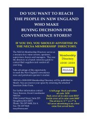 2004/05 Advertising Order Form - New England Convenience Store ...