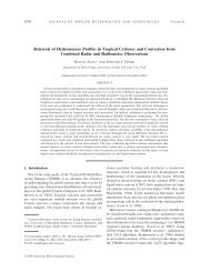 Retrieval of Hydrometeor Profiles in Tropical Cyclones and ...