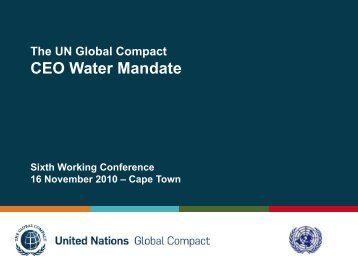 Gavin Power (Tue) - UN CEO Water Mandate