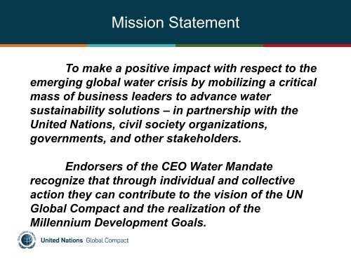 Gavin Power (Tue) - UN CEO Water Mandate