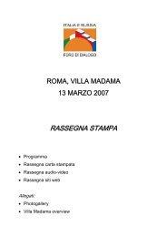 Evento 13 marzo 2007 - Rassegna stampa - Ispi