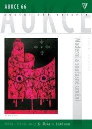 Moderní a současné umění - Aukční síň Vltavín