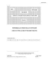 peperiksaan percubaan stpm 2009 jabatan pelajaran negeri pahang