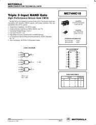 Triple 3-Input NAND Gate MC74HC10