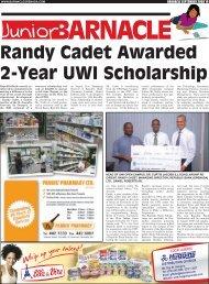 Randy Cadet Awarded 2-Year UWI Scholarship