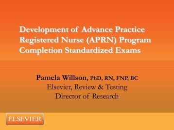 Development of Advance Practice Registered Nurse (APRN ... - IUPUI